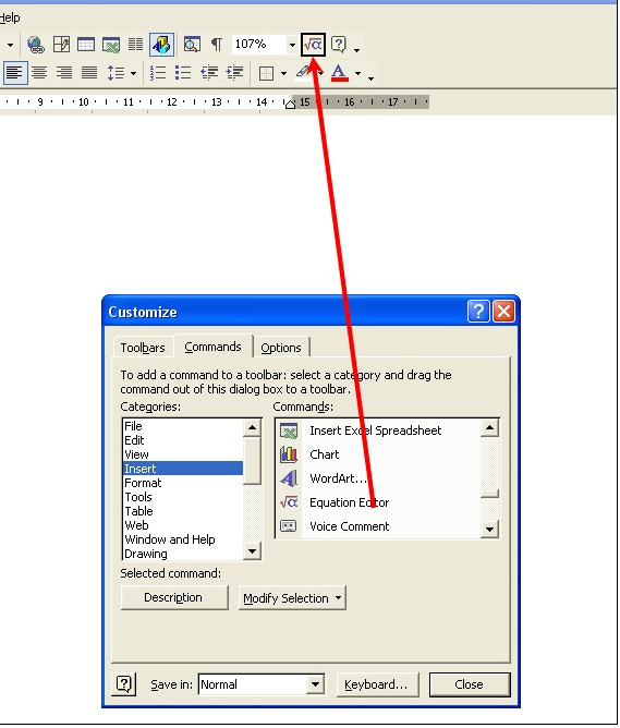 how to add an equation number in word