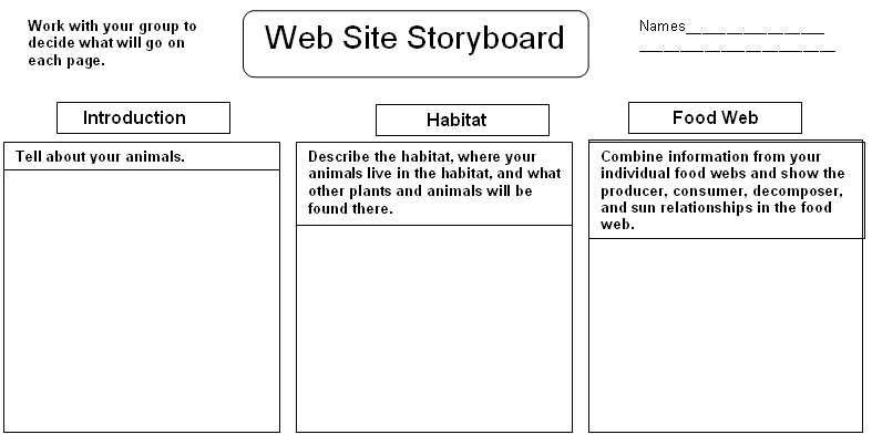 Website Storyboard Samples